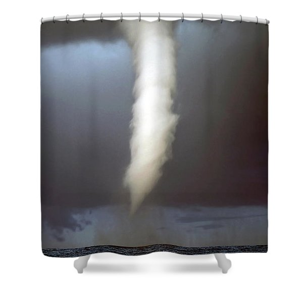 tornado funnel Shower Curtain by Sally Weigand