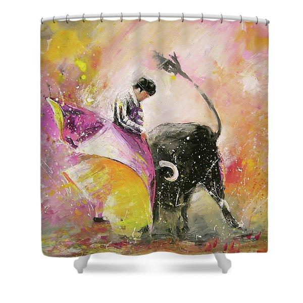 Toro Tenderness Shower Curtain by Miki De Goodaboom