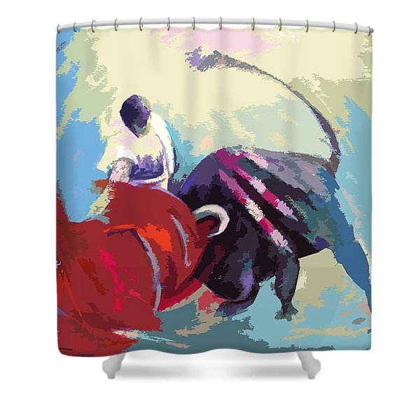 Toroscape 33 Shower Curtain by Miki De Goodaboom