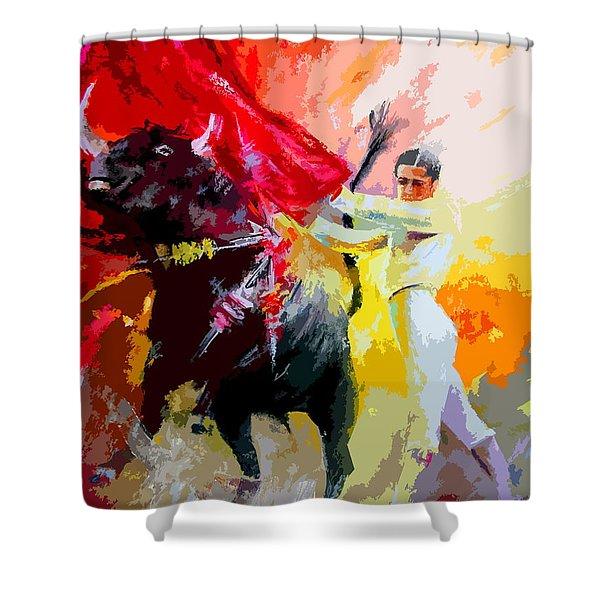 Toroscape 41 Shower Curtain by Miki De Goodaboom