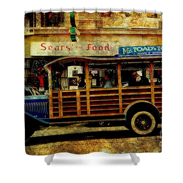 Touring The Streets of San Francisco . texture Shower Curtain by Wingsdomain Art and Photography