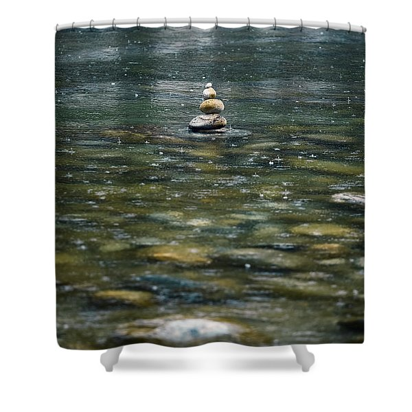 tower of stones Shower Curtain by Joana Kruse