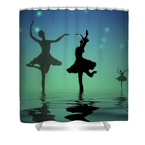 Tranquil Persuasion Shower Curtain by Joyce Dickens