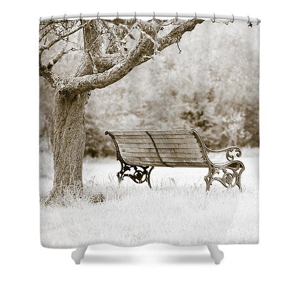 Shower Curtains - Tranquility Shower Curtain by Frank Tschakert