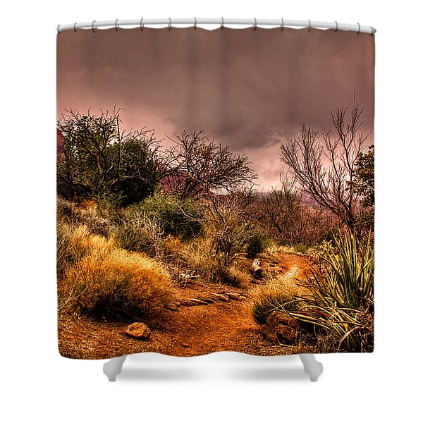 Traveling The Trail At Red Rocks Canyon Shower Curtain by David Patterson