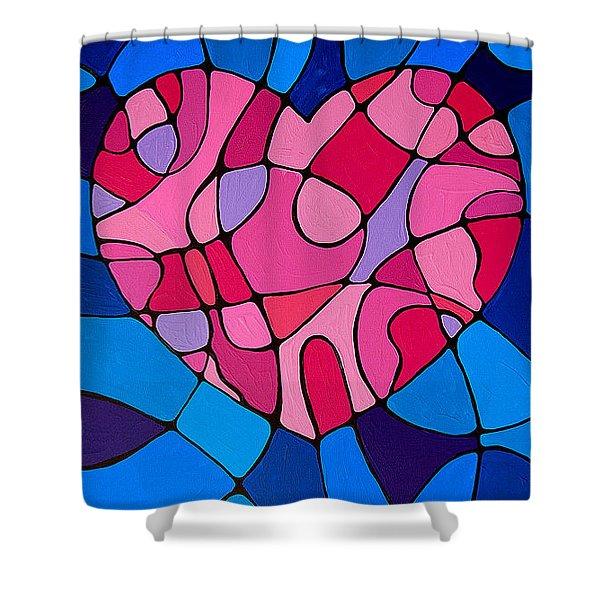 Treu Love Shower Curtain by Sharon Cummings