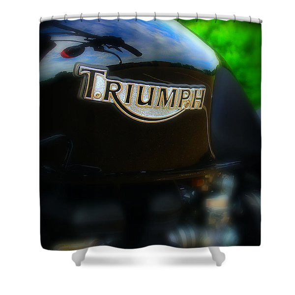 Triumph Shower Curtain by Perry Webster