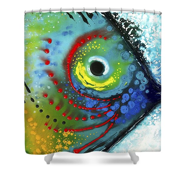 Tropical Fish Shower Curtain by Sharon Cummings