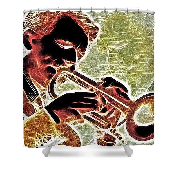 Trumpet Shower Curtain by Stephen Younts
