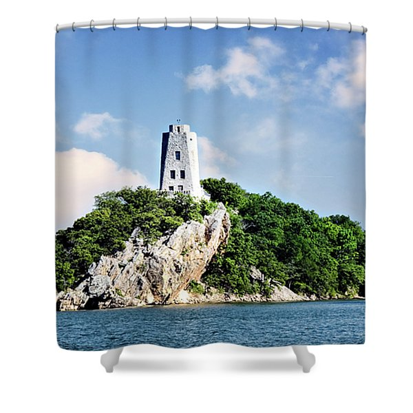 Tucker Tower 2 Shower Curtain by Lana Trussell
