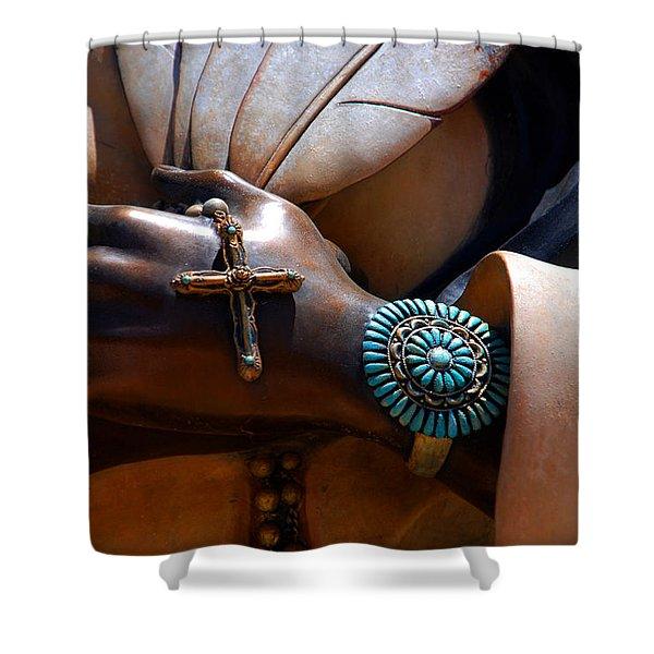 Turquoise Bracelet  Shower Curtain by Susanne Van Hulst
