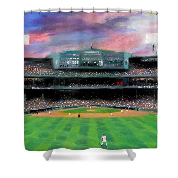 Twilight at Fenway Park Shower Curtain by Jack Skinner
