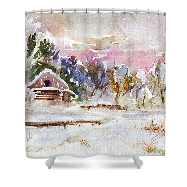 Twilight Serenade I Shower Curtain by Xueling Zou