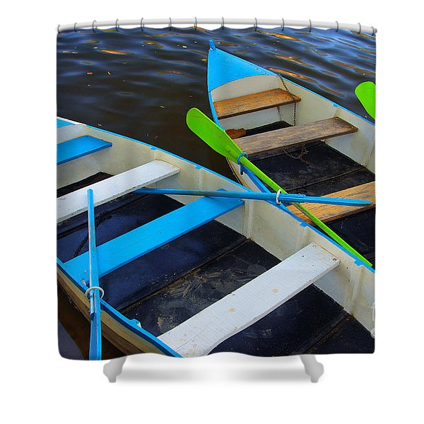 Two boats Shower Curtain by Carlos Caetano