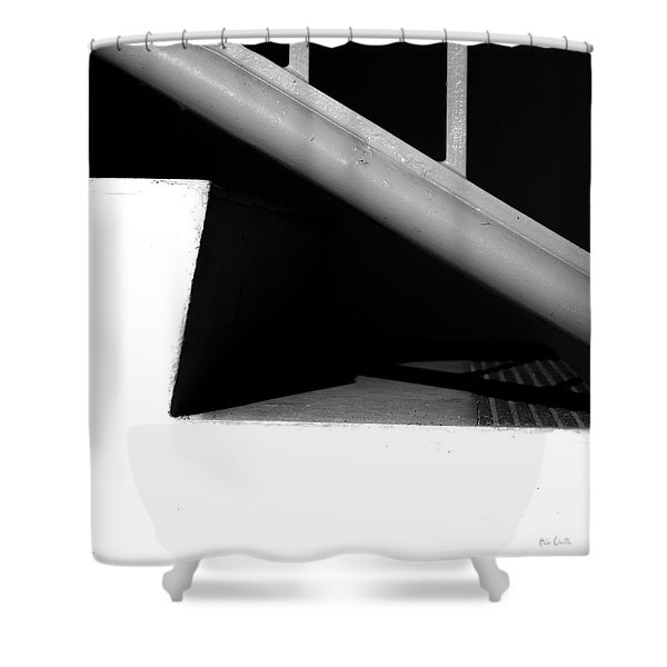 Two Steps Shower Curtain by Bob Orsillo