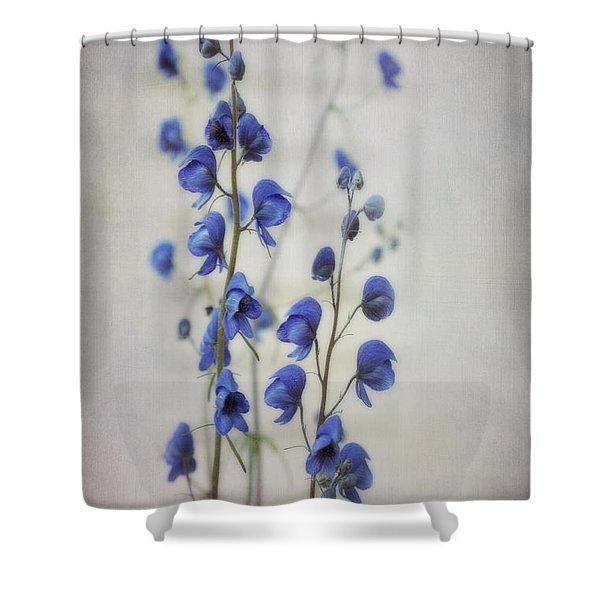 Ultramarine Shower Curtain by Priska Wettstein