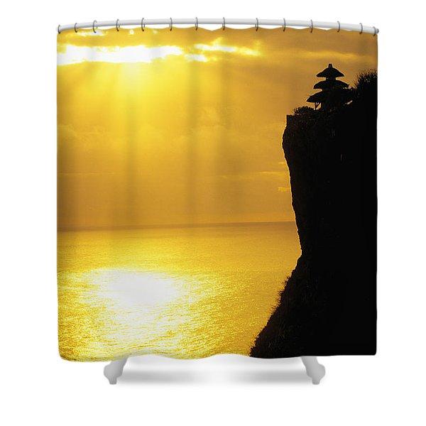 Uluwatu Temple Shower Curtain by Dana Edmunds - Printscapes