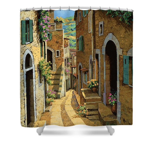 Un Passaggio Tra Le Case Shower Curtain by Guido Borelli