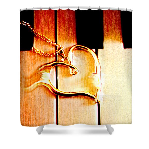 Unchained Melody Shower Curtain by Linda Sannuti