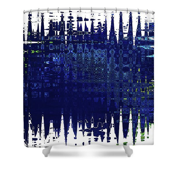 Under the Sea - Abstract Art Shower Curtain by Carol Groenen