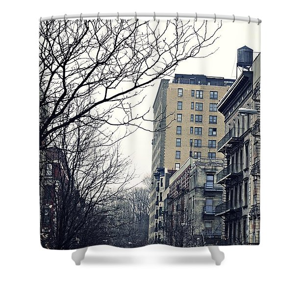 Upper West Side Winter Shower Curtain by Sarah Loft