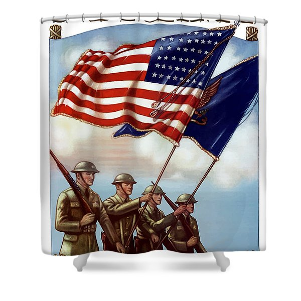 US Army -- Guardian Of The Colors Shower Curtain by War Is Hell Store