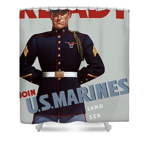 US Marines Ready Shower Curtain by War Is Hell Store