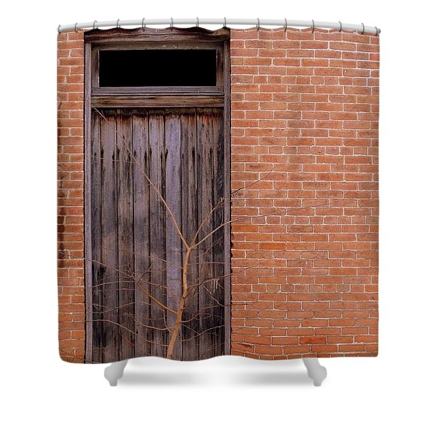 Use Side Entrance Shower Curtain by Ed Smith