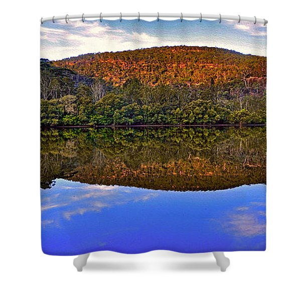 Valley of Peace Shower Curtain by Kaye Menner