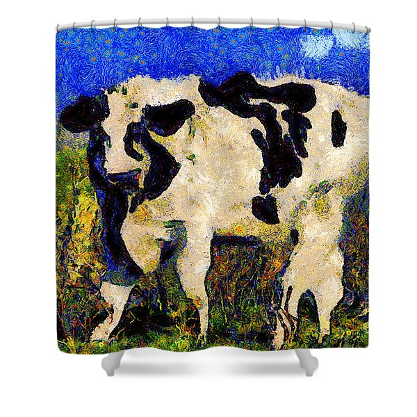 Van Gogh.s Big Bull . 7D12437 Shower Curtain by Wingsdomain Art and Photography