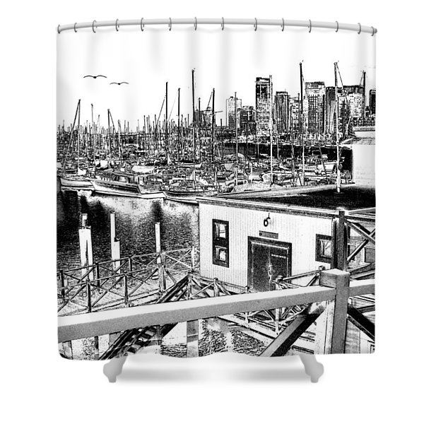 Vancouver Waterfront Shower Curtain by Will Borden