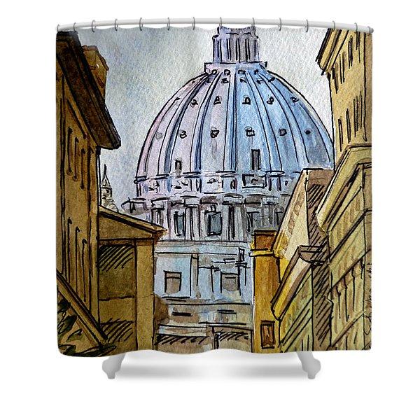 Vatican City Shower Curtain by Irina Sztukowski