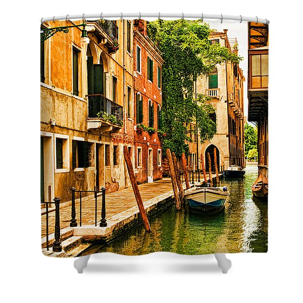 Venice Alley Shower Curtain by Mick Burkey