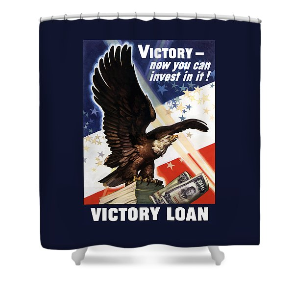 Victory Loan Bald Eagle Shower Curtain by War Is Hell Store