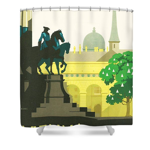 Vienna Shower Curtain by Nomad Art And  Design
