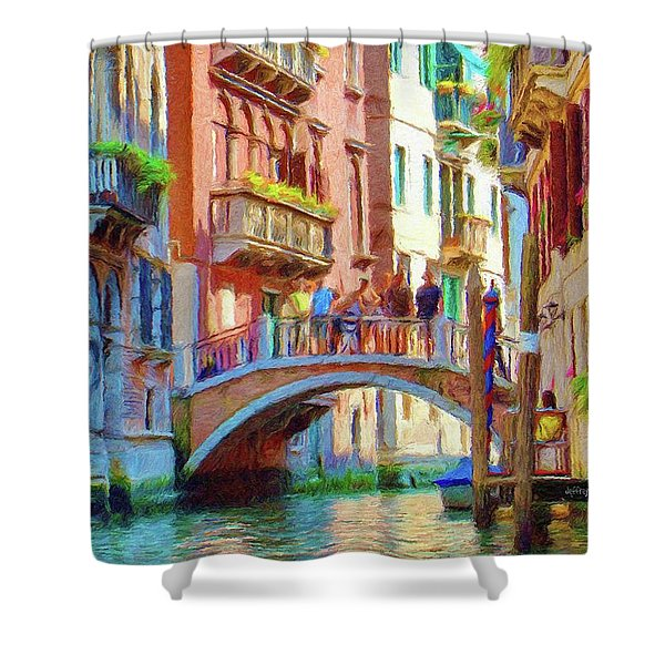 View from the Canal Shower Curtain by Jeff Kolker
