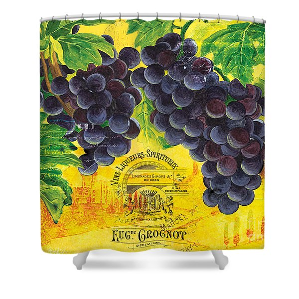 vigne de raisins Shower Curtain by Debbie DeWitt