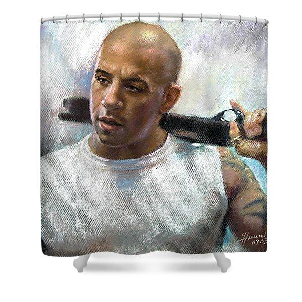 Vin Diesel Shower Curtain by Ylli Haruni