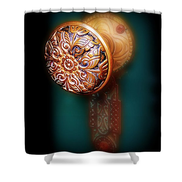 Vintage Door Handle Shower Curtain by Perry Webster