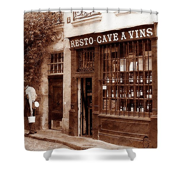 Vintage Paris 3 Shower Curtain by Andrew Fare