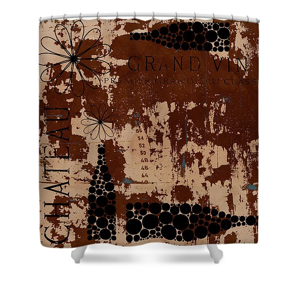 Vintage Wine Shower Curtain by Frank Tschakert