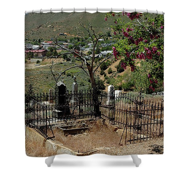 Virginia City Cemetery Broken Gate Shower Curtain by LeeAnn McLaneGoetz McLaneGoetzStudioLLCcom