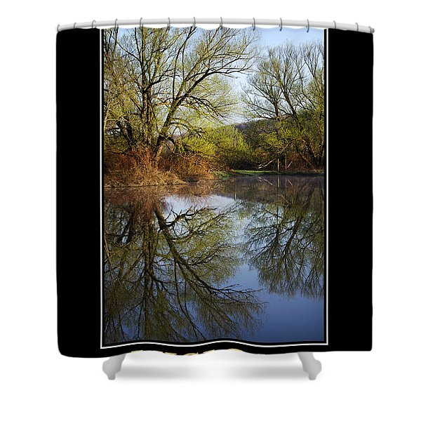Vision Inspirational Motivational Poster Art Shower Curtain by Christina Rollo