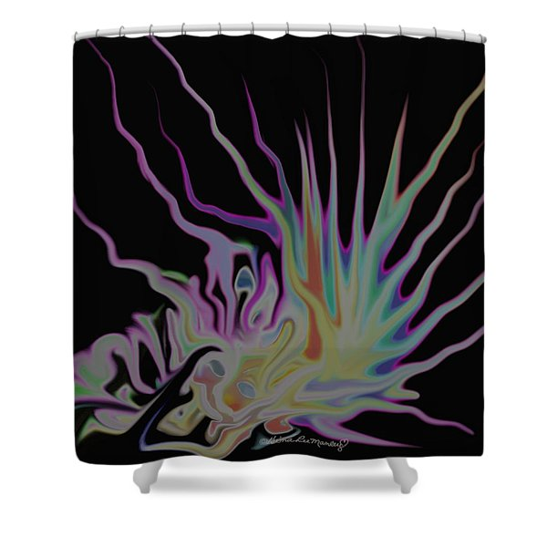 Visionary Shower Curtain by Gina Lee Manley