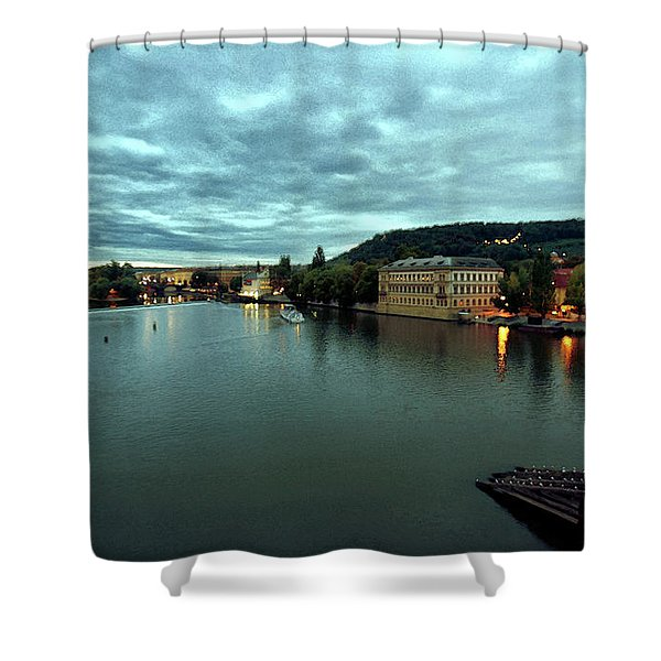 Vltava View 2 Shower Curtain by Madeline Ellis