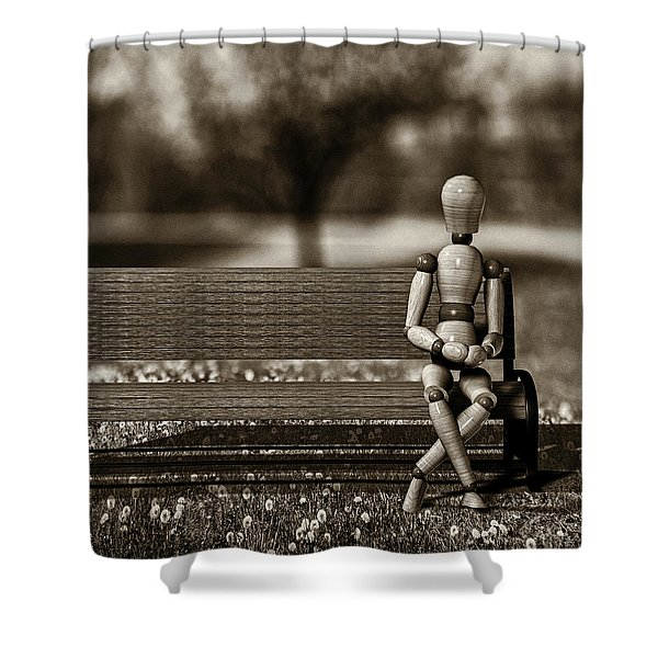 Waiting For The Taxi Shower Curtain by Bob Orsillo