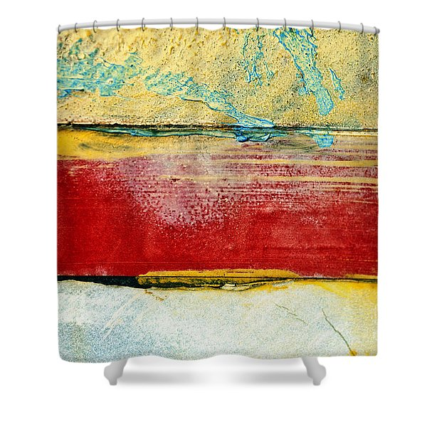 Wall Strip Shower Curtain by Ray Laskowitz - Printscapes
