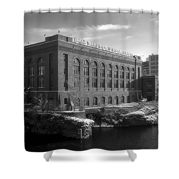 WASHINGTON WATER POWER POST STREET STATION - SPOKANE WASHINGTON Shower Curtain by Daniel Hagerman