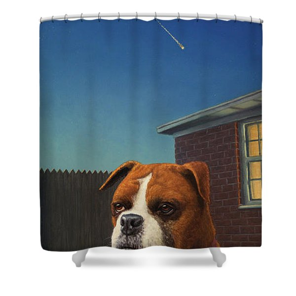 Watchdog Shower Curtain by James W Johnson