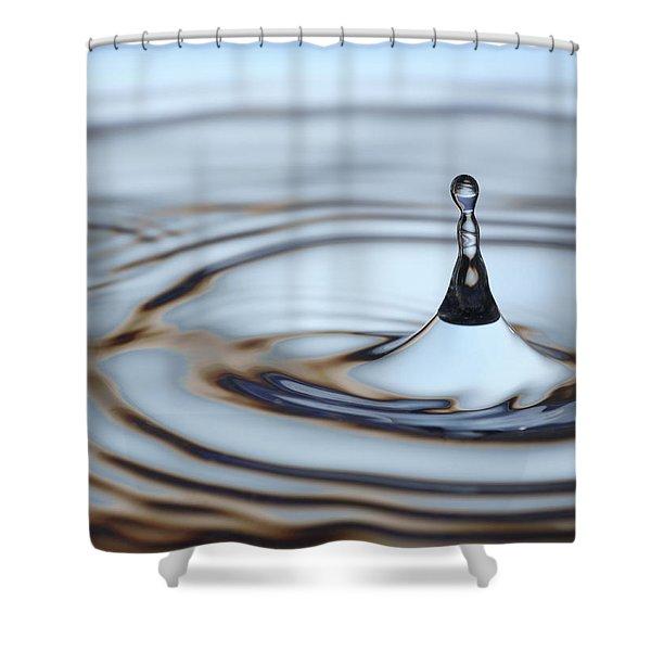 Shower Curtains - Water drop splash Shower Curtain by Frank Tschakert
